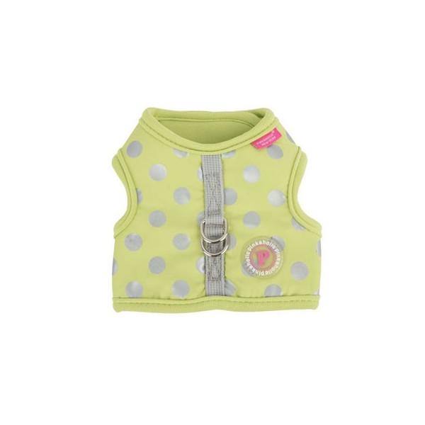 Pinkaholic - Pettorina Regolabile a Pois - Chic Pinka Harness Nara - Lime