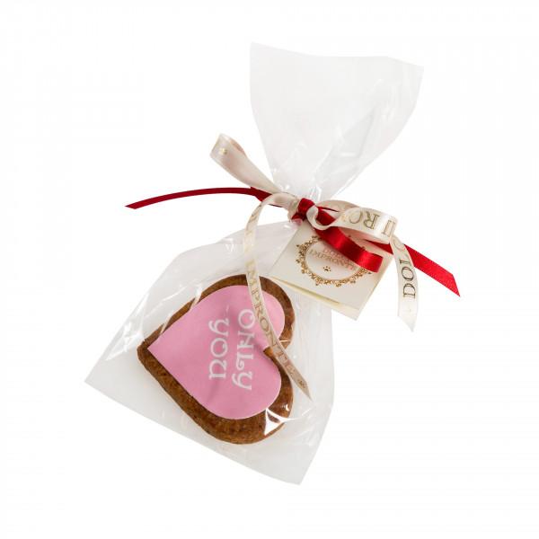 Dolcimpronte - Cuore rosa con scritta bianca ONLY YOU - confezione singola - 30 gr ( ASL Prot.0088901/16)