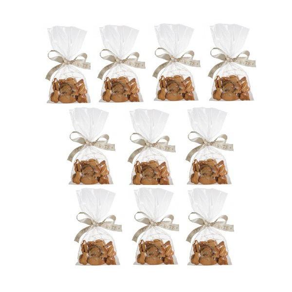 Dolcimpronte - 10 Sacchettini Biscotti Mignon 50gr cad. ( ASL Prot.0088901/16)