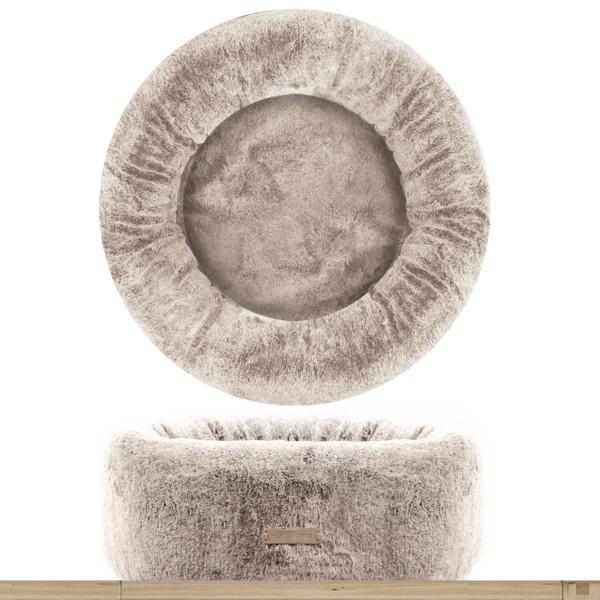 Milk&Pepper - Cuccia Ecopelliccia Lagom- Rotonda - Beige 60x23h cm