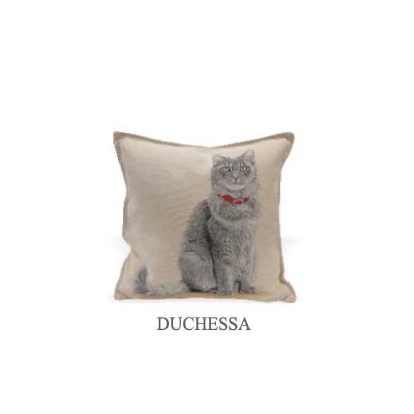 Cushion 40x40cm - Princess Cat - Made in Italy