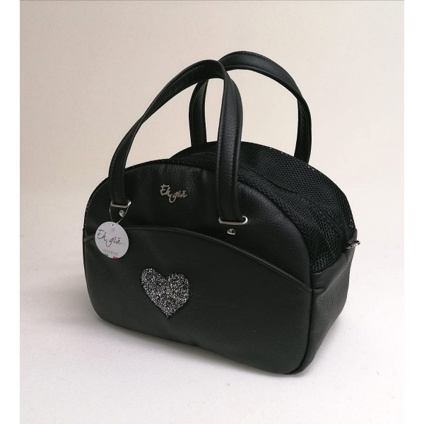 Eh Già - Cuty Black Heart - 20x38x27h cm -Made in Italy -