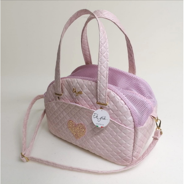 Eh Già - Cuty Teo Pink Heart - 20x38x27h cm -Made in Italy -