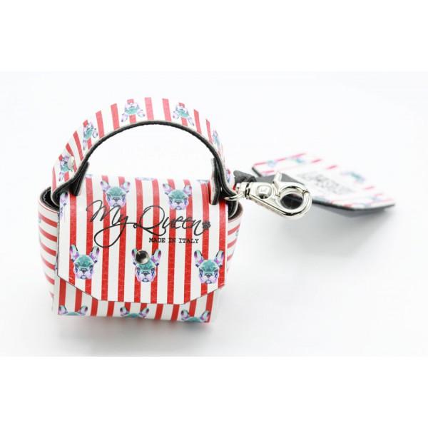 MQ- Mini Bag - Ecopelle Stampata Righe - Bulldog