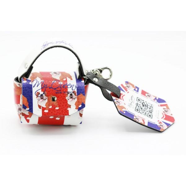 MQ- Mini Bag - UK and Bulldog Printed Faux Leather