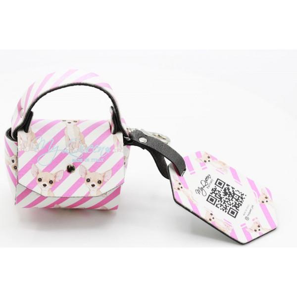 MQ- Mini Bag - Ecopelle Stampata Rosa - Miss.Chihuahua