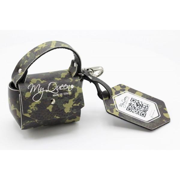 MQ- Mini Bag - Ecopelle Stampata Camouflage Militare