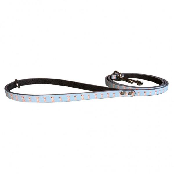 MQ- Guinzaglio Azzurro Stampa Chihuahua - Ecopelle