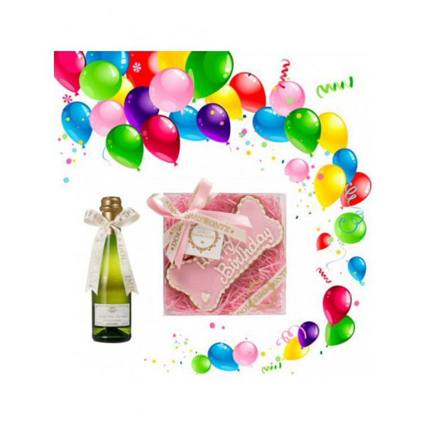 Dolci Impronte® - Birthday Set - Pink Bone Cake and Special Cuvee