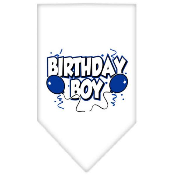 MR- White Birthday Bandana Boy - S - L