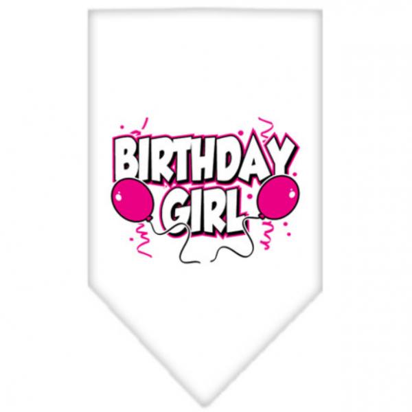 MR- White Birthday Bandana Girl - S - L